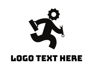 Spanner - Gear Head logo design