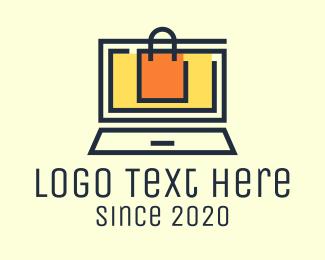 Mart - Online Shopping Bag logo design