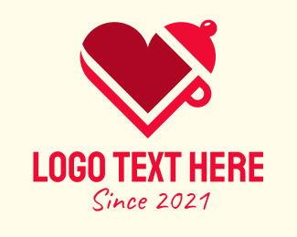 Cook - Red Cooking Heart logo design