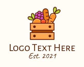 Marketplace - Fruit & Vegetable Basket logo design