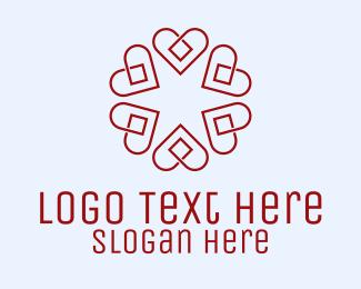 Cardiovascular - Floral Heart Diamond logo design