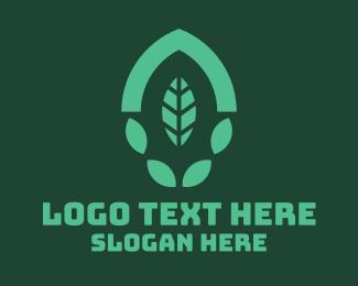 Nature Reserve - Green Eco Leaf logo design
