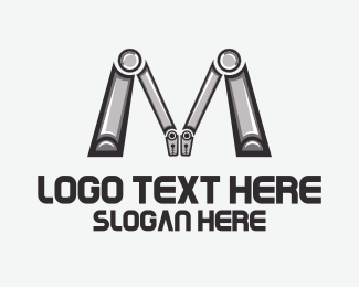 Robotic Letter M Logo