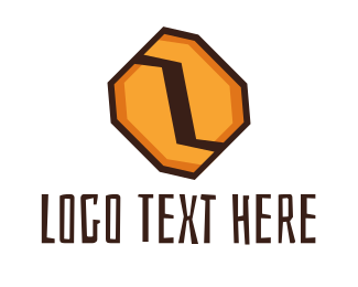 Brown Hexagon - Hexagon Coffee Bean logo design