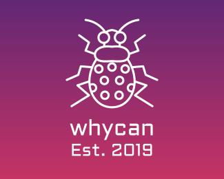 Bug Cyber Bug Outline logo design