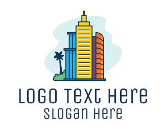 Architecture - Tropical City Living  logo design