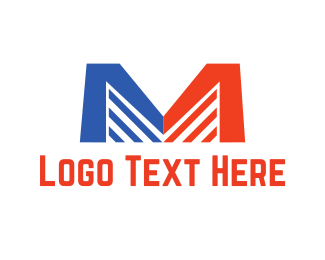 Michigan - Letter M Buildings logo design