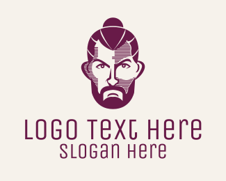 Model - Bearded Hipster Man  logo design