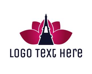 Lotus - Eiffel Lotus logo design
