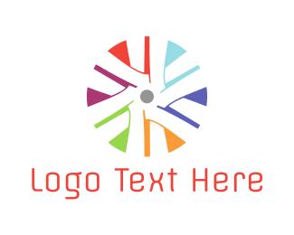 Fan - Colorful Turbine logo design