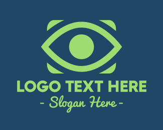 Social Media - Green Eye  logo design