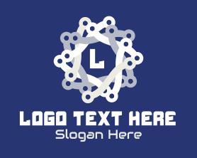 Together - Tech Chain Star logo design