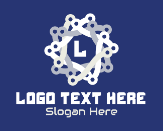 Together - Tech Chain Star logo design