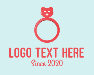 Ring - Pink Bear Ring logo design