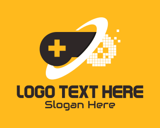 Pixelated - Orbit Pixelated Controller logo design
