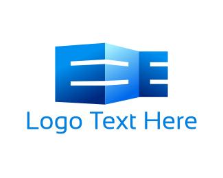 Letter E - Building Letter E logo design
