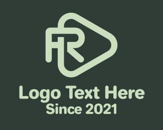 R - Letter R Play Button logo design