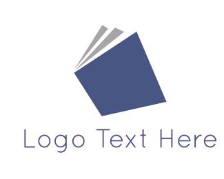 Poetry - Blue Book logo design