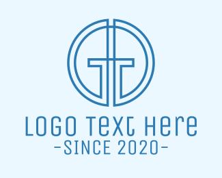 Prayer - Minimalist Monogram G & H logo design