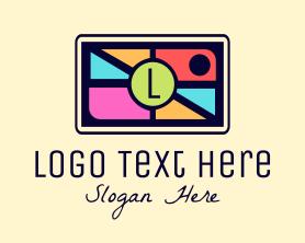 Letter - Mosaic Camera Lettermark logo design