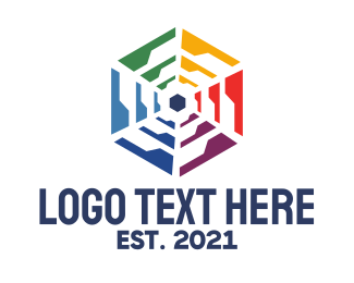 Wireless - Polygon Wheel  logo design