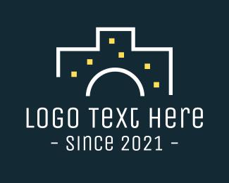 Building - Camera Building Structure logo design
