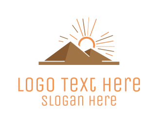 Structure - Egyptian Pyramids logo design
