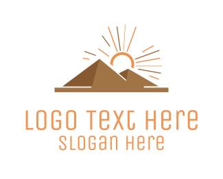 Ancient - Egyptian Pyramids logo design