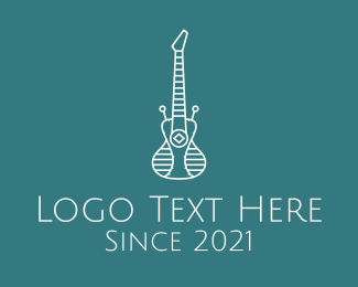 Android - Android Electric Guitar logo design