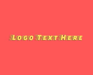 Quick - Yellow Racing Wordmark logo design