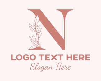 Occasion - Elegant Leaves Letter N logo design