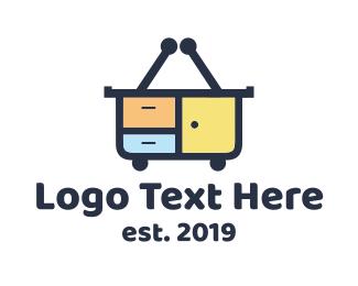 Shopping - Furniture Shop logo design