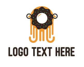 Donut - Octo Donut  logo design