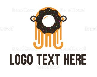 Cookie - Octo Donut  logo design