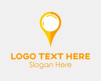 Simple - Yellow Pin logo design