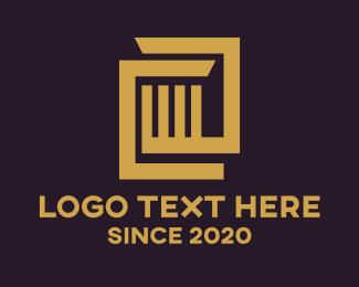 Investment - Brown Investment Bars logo design