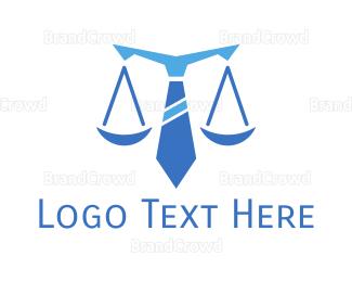 Lawyer - Blue Tie Lawyer logo design