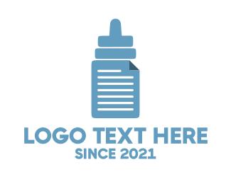 Baby Bottle - Bottle & File logo design