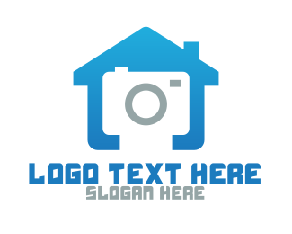 Waterproof - Blue House Camera logo design