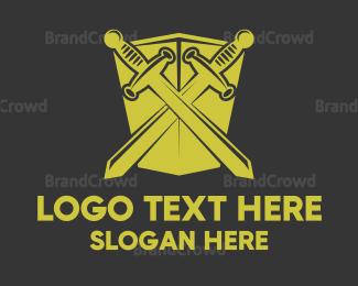 Blade - Sword Shield logo design