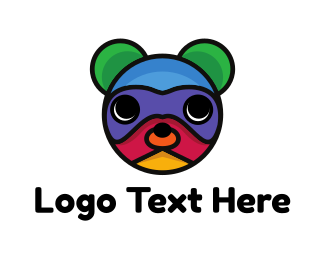 Teddy - Colorful Bear  logo design