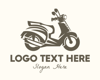 Riding - Vintage Scooter logo design