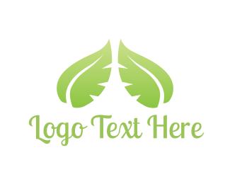 Duo - Green Leaves logo design