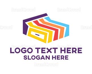 Bed - Colorful Bed logo design