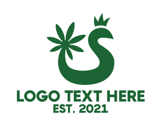 Hemp - Cannabis Snake King logo design