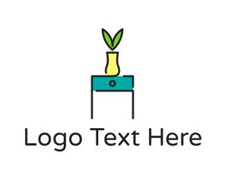Interior - Vase Furniture logo design