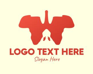 Landmass - African Continent Lungs logo design