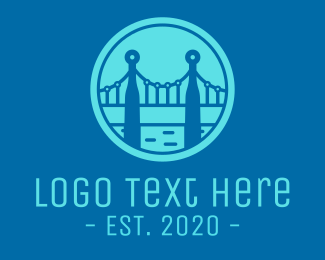 Golden Gate - Blue Bridge Technology logo design
