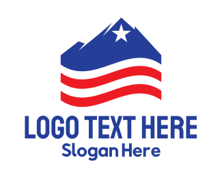 Travel - USA Mountain logo design