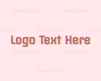 Party - Party Text logo design